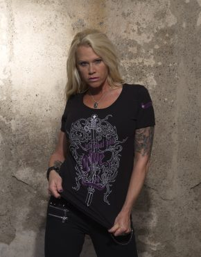 Frauen_T-Shirt_It's_what_you_give_Purple